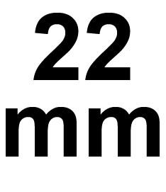 22 mm